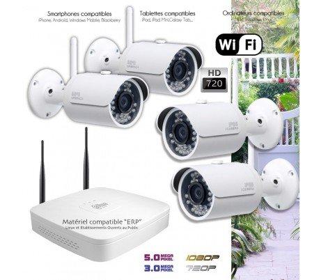 Telecamere videosorveglianza IP–Sistema di video sorveglianza Wi-Fi 4telecamere esterne–kit-360–4x 345–Hard disk di 2TB