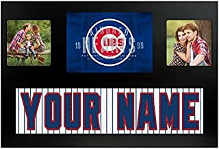 Chicago Cubs MLB Custom Jersey Nameplate and Logo Picture Frame
