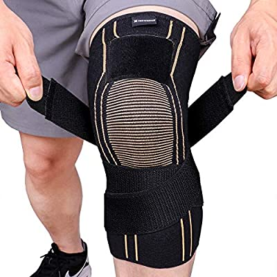 Thx4COPPER Sports Compression Knee Brace with Adjustable Strap, Arthritis Relief, Joint Pain, MCL, Added Support