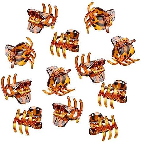 12 Unidades de Garra Clips de Tamaño Mediano Garras de Pelo de 1.3 Pulgadas Pinza de Pelo Clip de Garra Clip Grip para Mujeres Niñas Pelo Grueso o Medio (Marrón)