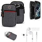 K-S-Trade® Gürtel-Tasche + Kopfhörer Für Archos Sense
