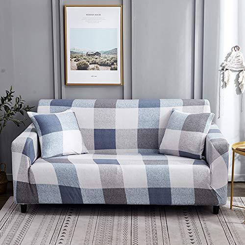 Funda de sofá Strecth con Estampado Floral Fundas de sofá de geometría elástica para Sala de Estar Fundas para sillón Funda de sofá A12 3 plazas