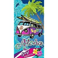 St.Ioannidis&Son Toalla Microfibra Aloha Playa 15073, 100% Poliester, Multicolor, 95 X 175 Cm