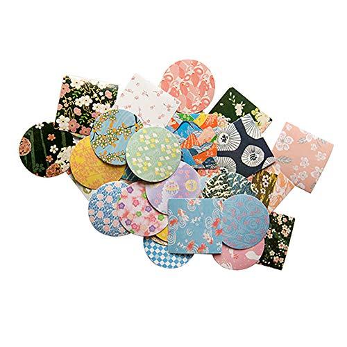 CAOLATOR 40 Blatt Japanischer Stil Aufkleber Deko Sticker Hartes Papier Sticker Mädchen Tagebuchsticker Foto Album Dekoration