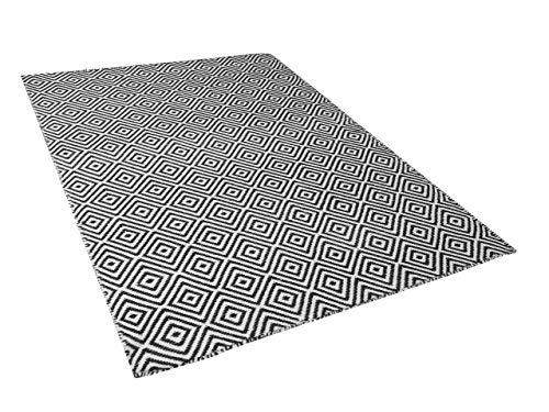 60 x 110 cm argent/é Sona-Lux Tapis Moderne en Toile de Jute Gris Noir Brun Clair Taille