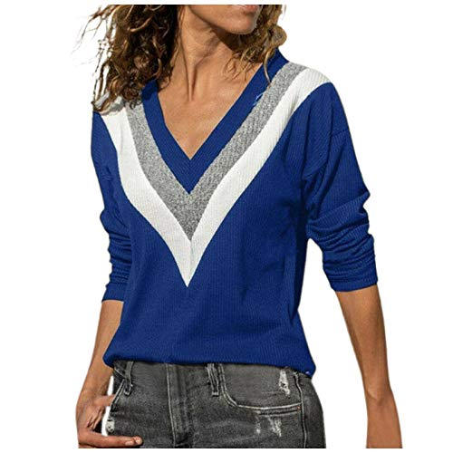 MRULIC Damen Kurzarm T-Shirt Rundhals Ausschnitt Lose Hemd Pullover Sweatshirt Oberteil Tops(B-Rot,EU-50/CN-5XL)