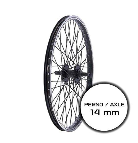 RIDEWILL BIKE Ruota Posteriore BMX 20'' Perno 14mm Nero (Ruote BMX) / Rear Wheel BMX 20'' axle 14mm Black (BMX Wheel)