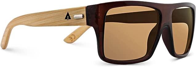 TREEHUT Wooden Bamboo Sunglasses Temples Classic Aviator Retro Square Wood Sunglasses