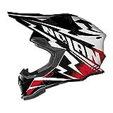 Casco Nolan N53Comp MX, colore nero/bianco/rosso, taglia S (55/56)