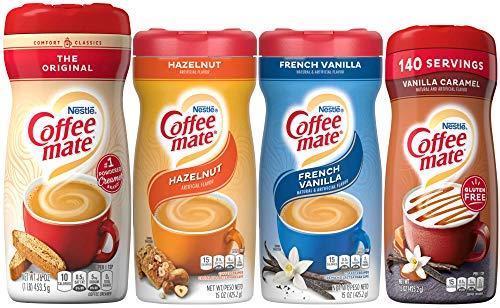 Coffee Mate Powdered Creamer: Original, Hazelnut, French Vanilla, Vanilla Caramel