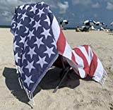 Lux Oversized Absorbent Cotton Beach Towel W/Hidden Zipper Pocket...