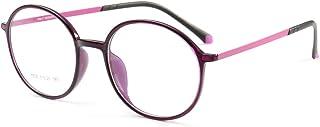 b7cff6416e Kajuer Gafas de Estudiante Retro Gafas de Montura Redonda para Hombres y Mujeres  Gafas sin Receta