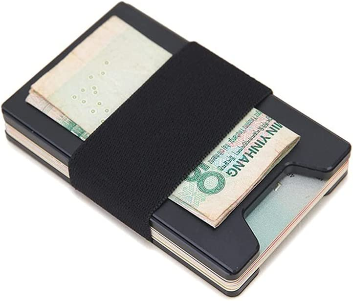 Memphis Mall Lingwu Minimalist Wallet for Men Holder Card Outlet ☆ Free Shipping Metal Blocking RFID