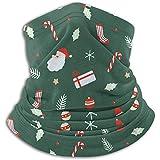 Papá Noel de Navidad, campanas, bola de Navidad, bastones de caramelo, regalo, calcetines, calentador de cuello de invierno, polainas, diadema, tubo, máscara facial, bufanda térmica