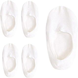 5 Pares Calcetines Mujer Cortos Color Sólido Calcetines Invisibles De Seda De Hielo Para Mujer Moda Calcetines Tobilleros Para Mujer Negras Antideslizantes Respirable Calcetines Blancas