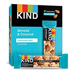 Contains 12 - 1.4oz KIND Bars One of our original and best-selling bars: made with almonds and pieces of toasted coconut bound together with honey for a sweet, chewy, crunchy snack. A satisfying, nutty snack that only seems indulgent. Gluten free, No...