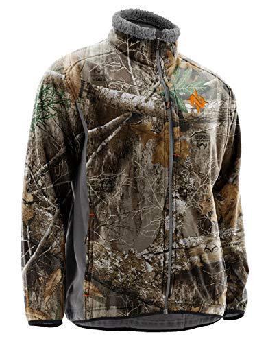 Nomad Men's Harvester Wind & Water Resistant Sherpa Fleece Hunting Jacket, Realtree Edge, XXX-Large