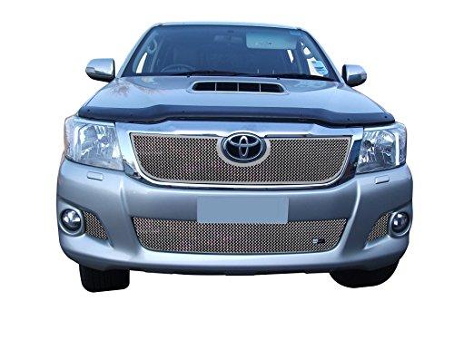 Zunsport Compatible avec Toyota HiLux - Ensemble calandre Avant - Finition Argent (2012 à 2015)