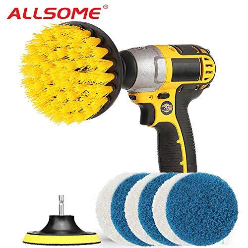 NIUPAN 8 stks elektrische boor borstel grout boormachines scrubber schoon borstel bad schoner gereedschap kit voor badkuipen tegel