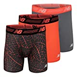 New Balance Men's 6' Boxer Brief Fly Front with Pouch, 3-Pack of 6 Inch Tagless Underwear