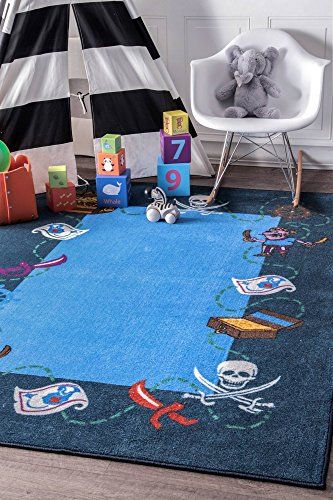 "nuLOOM 200MCGZ20A-3305 Pirate Playtime Rug Area, 3' 3"" x 5'"