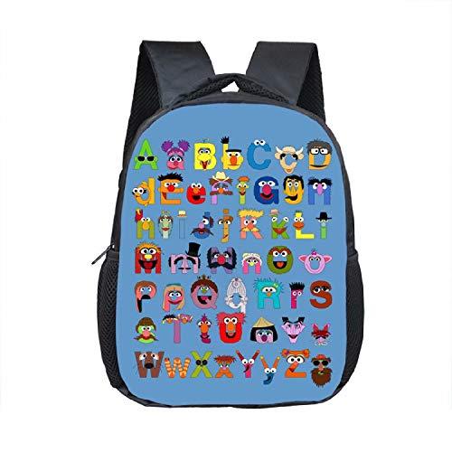 Kinder-Rucksack für Vorschulkinder mit Cartoon-Alphabet-Buchstaben, Schulschultertasche für Mädchen und Jungen