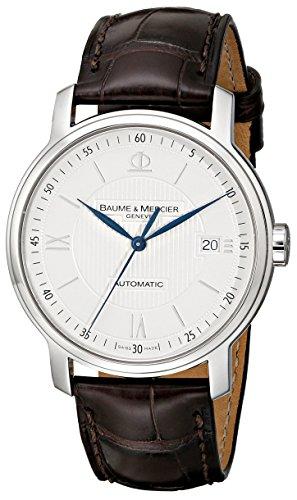 Baume & Mercier 8791 - Reloj de pulsera hombre, piel, color marrón