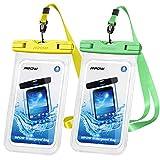 Mpow - Funda Impermeable para teléfono móvil de 7 Pulgadas (2 Unidades), Funda Protectora de Agua Doble para Nadar, bañarse y cocinar, iPhone 11/iPhone SE/iPhone 8/Galaxy S20/S10/S9