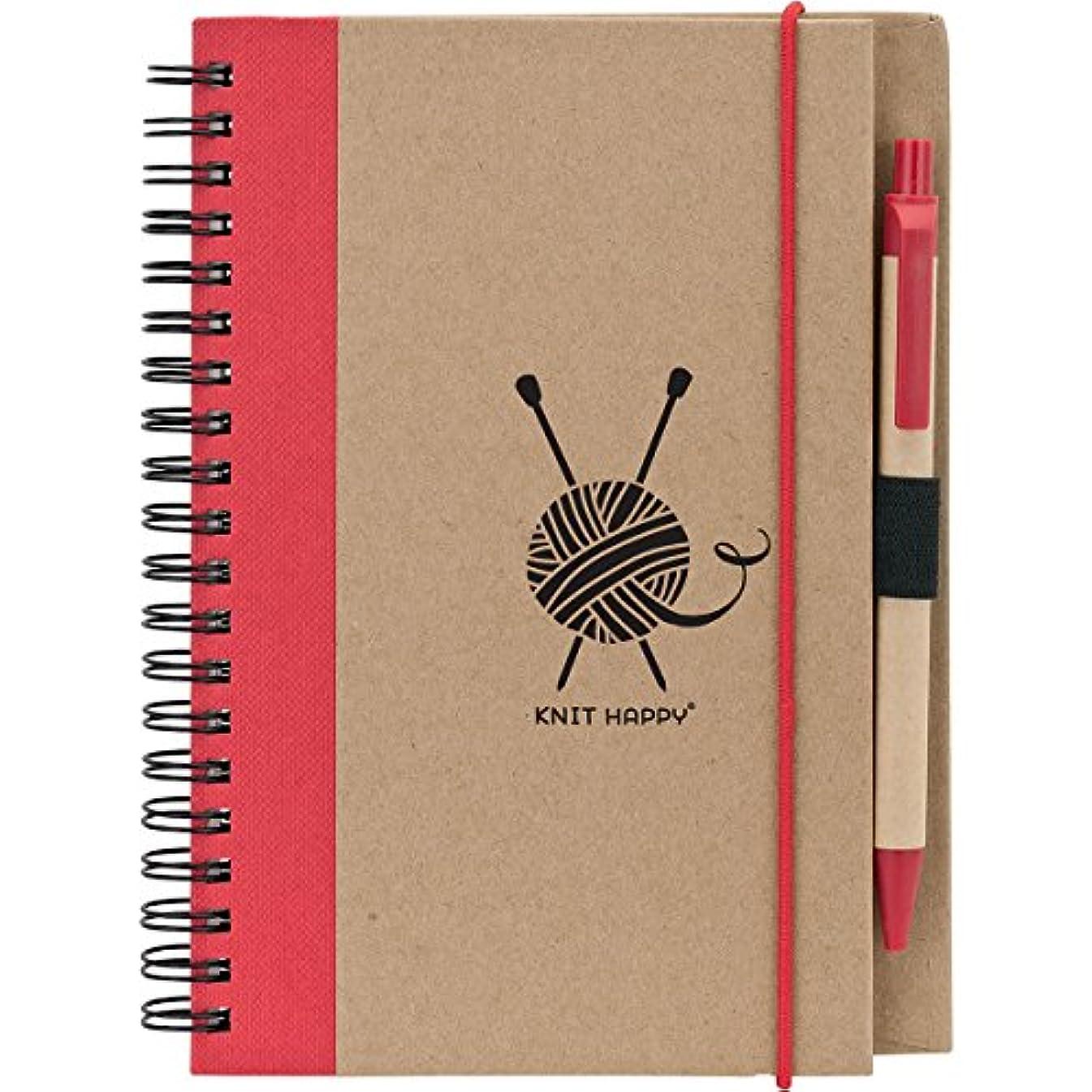 K1C2 KH302-RE Knit Happy Eco Journal W/Pen-Red