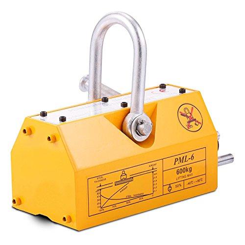 BuoQua Lasthebemagnet Neodym 600KG Hebemagnet Extra Stark Kranmagnet Magnetheber 1500kg Zugkraft 3,5 Sicherheitsfaktor