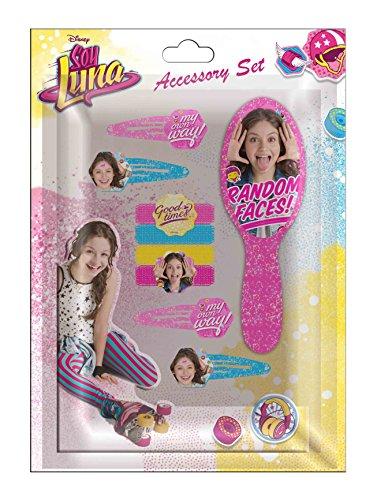Disney- Soy Luna Blister 9 Pièces Accessoires Cheveux, WDSL026