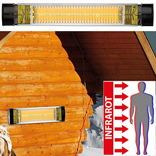 Semptec Urban Survival Technology Terassenstrahler: Infrarot-Außen-Heizstrahler IRW-2500 mit Goldröhre, 2.500 Watt, IP65 (kurzwellige Infrarot Heizstrahler)