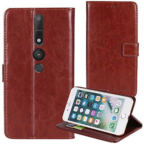 TienJueShi Braun Premium Retro Business Flip Book Stand Brief Leder Tasche Für Lenovo Phab 2 Pro 6.4 inch Schutz Hülle Handy Hülle Abdeckung Wallet Cover Etüi Skin