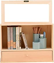 File Sorters Storage Office Supplies Desktop Organizer Wood Shelf Organizer for Desk Freestanding Bookshelf for Desk Vanit...