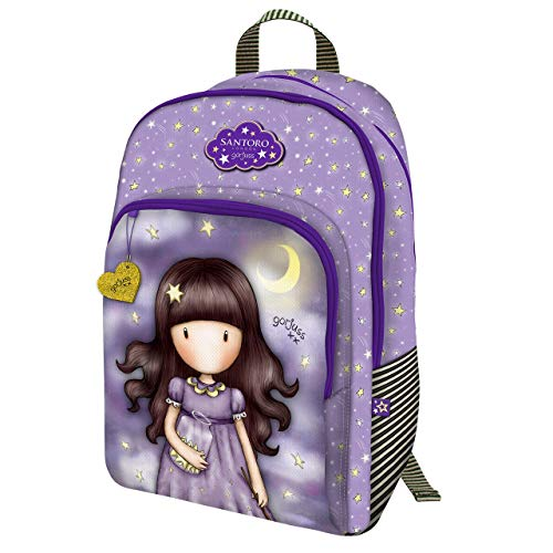 Gorjuss Sparkle & Bloom 802GJ11 Zaino Con 3 Zip - Catch A Falling Star