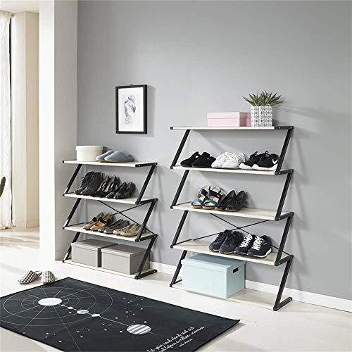 HLL Simple Estante de Zapatos de Pasillo de Varios Niveles Moderno Hogar Económico Estante de Almacenamiento de Hierro Forjado Ensamblaje de Gabinete de Zapatos Estante de Zapatos de Puerta a Prueba