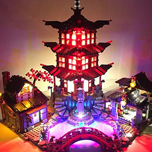 TETAKE Beleuchtung LED Licht Set für Lego Ninjago Temple of Airjitzu 70751 (Nicht Enthalten Lego Modell)