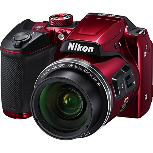 Nikon Coolpix B500 Wi-Fi Digital Camera (Red) -...
