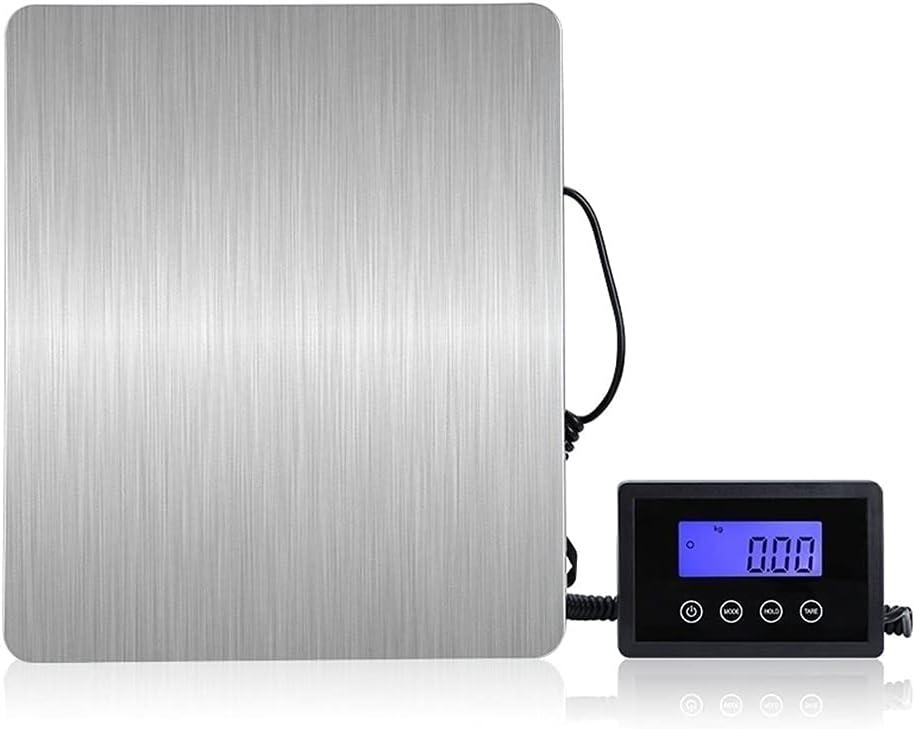 WZ Báscula Postal Báscula De Plataforma Impermeable 180kg/ 100g De Acero Inoxidable Base De ABS para Anticorrosión LCD Retroiluminación