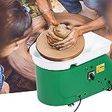 GOTOTOP Pottery Wheel 24CM Pottery Forming Machine elettrica 350W Macchina per Rotella di Ceramica con Pedale e Bacino per Ceramica Artigianato d'Arte in Ceramica (Verde)