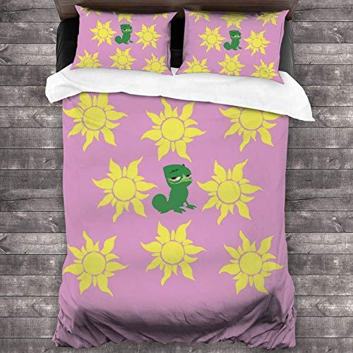 shenguang Juego de Cama de 3 Piezas Rapunzel 86 'X 70' Juego de Cama de poliéster súper Suave Edredones para Dormitorio