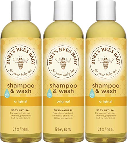 Burt's Bees Baby Bee Shampoo & Wash, 12 Fluid Ounces, 3er Pack (3 Packaging May Vary) by Burt's Bees