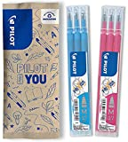 PILOT FriXion 0.7 - Recambios para bolígrafo (6 unidades), color rosa y azul claro