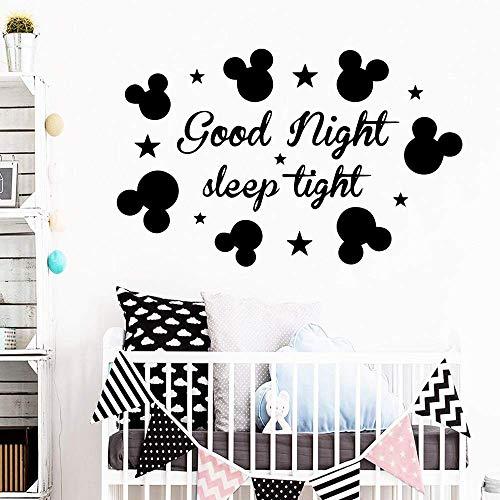 Buenas Noches Pegatinas De Pared Pegatinas De Pared De Moda Moderna Habitación De Los Niños Fondo Calcomanías De Arte De Pared 39X61Cm