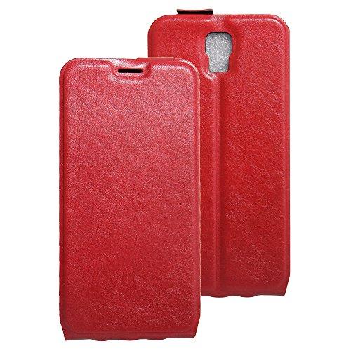 Litao-Case CN Hülle für UMI Rome X hülle Flip Leder + TPU Silikon Fixierh Schutzhülle Case 3