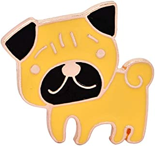 Pulabo lindo animal de dibujos animados perro broche pin joyería esmalte insignia ropa bufanda sombrero decoración nuevo r...