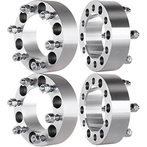 "ECCPP 4PCS 2"" 6x5.5 to 6x5.5| Fit Toyota 4Runner Tacoma Tundra Chevy Colorado Mitsubishi Montero Kia Sedona &More | 12x1.50mm Studs Wheel Spacers"