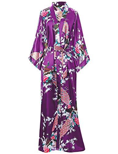 ArtiDeco Vestido Kimono Pijama de Seda Novia Kimono de Seda Ropa de...
