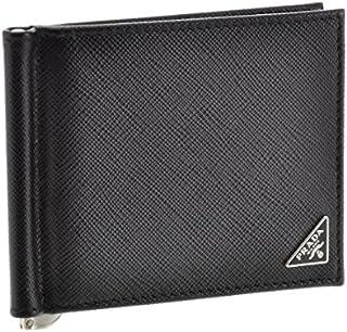 PRADA(プラダ) 財布 メンズ SAF.TRIANGOLO 2つ折り財布 NERO 2MN077-QHH-002 [並行輸入品]