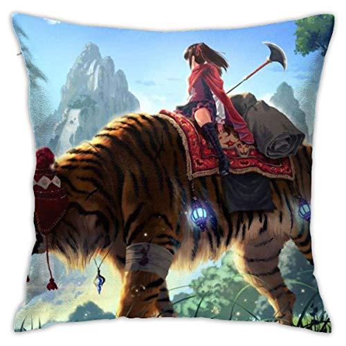 baoan Funda de almohada para cojín de 45 x 45 cm, diseño de tigre gigante